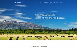 Agriculture Web Design - Agrialco - tablet image