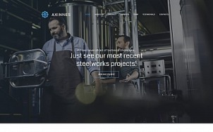 Manufacturing Website Design - Axinnes - tablet image