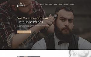 Barber Shop Website Design - Beardy - tablet image
