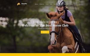 Equine Website Design - Manelity - tablet image