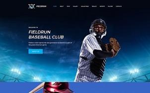 Baseball Website Design - Fieldrun - tablet image