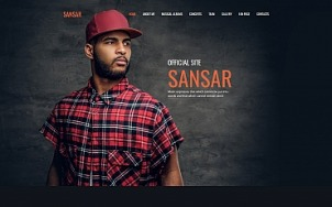 Singer Website Design - Sansar - tablet image