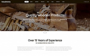 Woodworking Website Design - tablet image