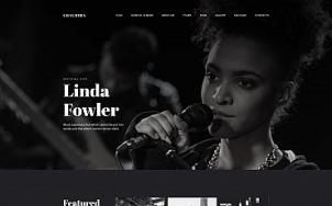Artist Website Design - Chachira - tablet image