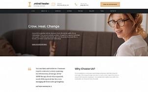 Doctor Website Design - Mind Healer - tablet image