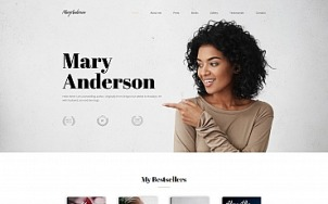 Author Website Design - Mary Anderson - tablet image