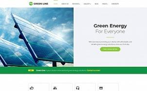 Renewable Energy Website Design - Green Line - tablet image