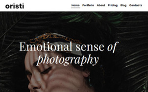 Photography Website Design - Oristi - tablet image