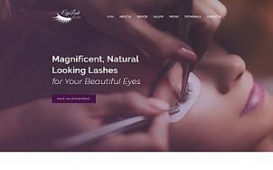 Beauty Salon Website Design - Eyelasher - tablet image
