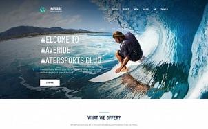 Surfing Website Design - Waveride - tablet image