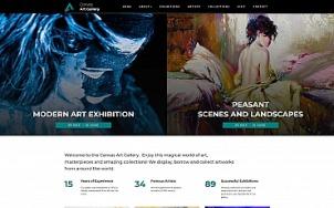 Art Gallery Website Design - Canvas - tablet image