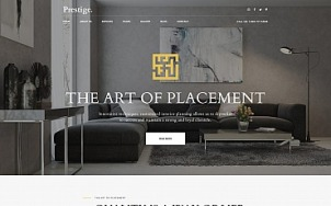 Interior Design Website Template for Studios and Architects - tablet image