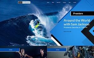 TV Channel Website Template - tablet image