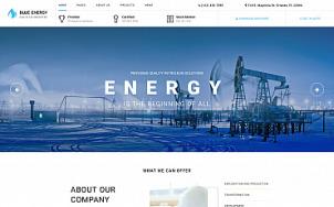 Oil Gas Website Design - Blue Energy - tablet image