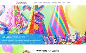 Birthday Website Design - Joy Creators - tablet image
