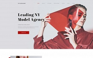 Modeling Website Design with Models Portfolio - tablet image
