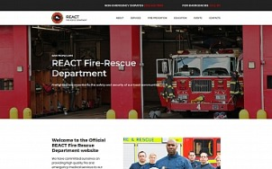 Fire Department Website Design - React - tablet image