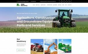 Tractor Website Design - tablet image
