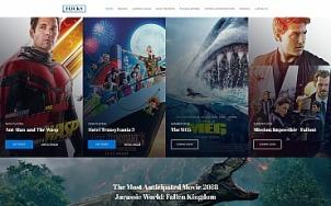 Cinema Website Design - Flicks - tablet image