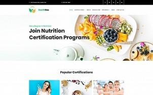 Nutrition Website Design - Healthline - tablet image