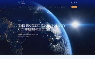 Conference Website Design - Tech Summit - tablet image