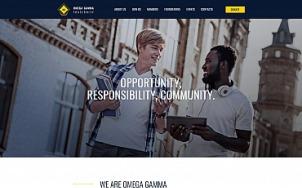 Fraternity Website Design - Omega Gamma - tablet image