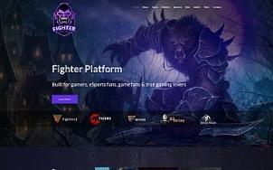 Esports Website Design - Fighter - tablet image