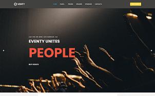 Event Website Design - Eventy - tablet image