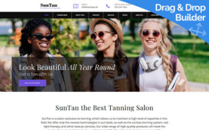 Tanning Salon Web Design - SunTan - tablet image
