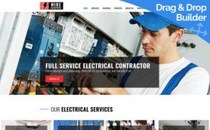 Electricity Website Design - tablet image
