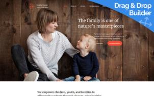 Family Center Website Design - tablet image
