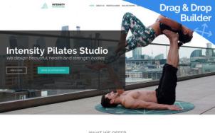 Pilates Studio Website Design - tablet image