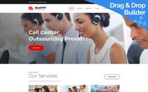 Call Center Website Design - tablet image