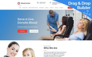 Blood Bank Website Design - tablet image