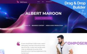 Music Composer Website Design - tablet image