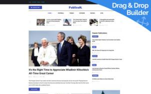 Newspaper Website Design - Publicon - tablet image