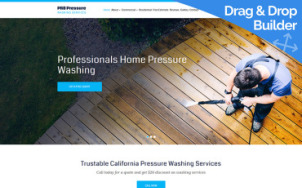 Pressure Washing Website Design - tablet image