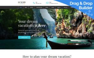 Travel Agent Website Design - tablet image
