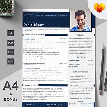Resume Front end developer