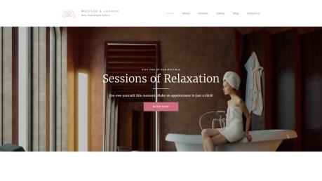 Spa Website Design - Melissa & Lauren - image