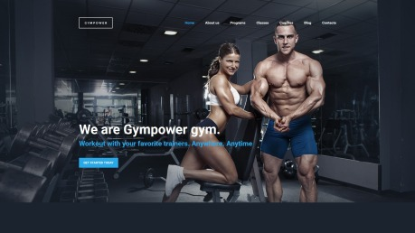 Fitness Website Design - GymPower - image