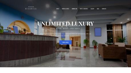 Hotel Website Design - Resortex - image