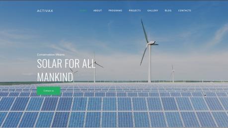 Solar Energy Website Design - Activax - image
