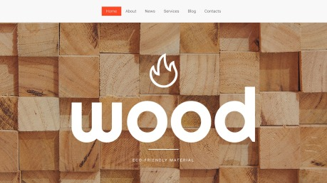 Wood Website Design - image