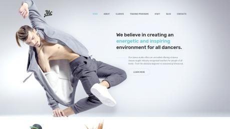 Dance Studio Website Design - MC - image
