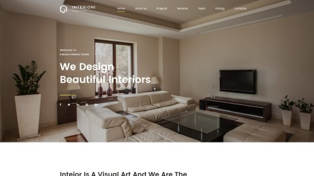 Home Decor Website Design - Interioni - image