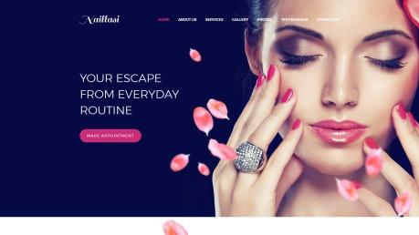 Nail Salon Website Design - Naillasi - image