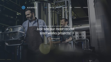 Manufacturing Website Design - Axinnes - image