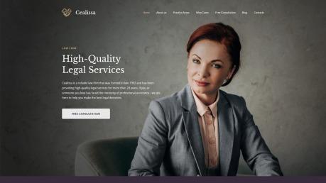 Attorney Website Design - Cealissa - image