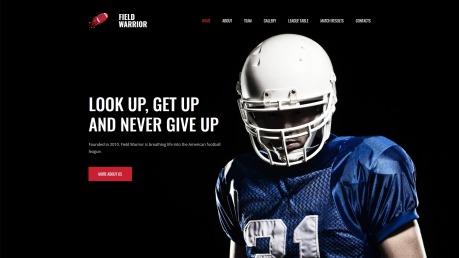 Football Website Design - Field Warrior - image